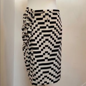 NWOT Weekend/MaxMara cream & black skirt